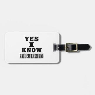 Sé sí kickboxing americano etiqueta para maleta