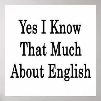 Sé sí que mucho sobre inglés póster