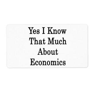Sé sí que mucho sobre la economía etiquetas de envío