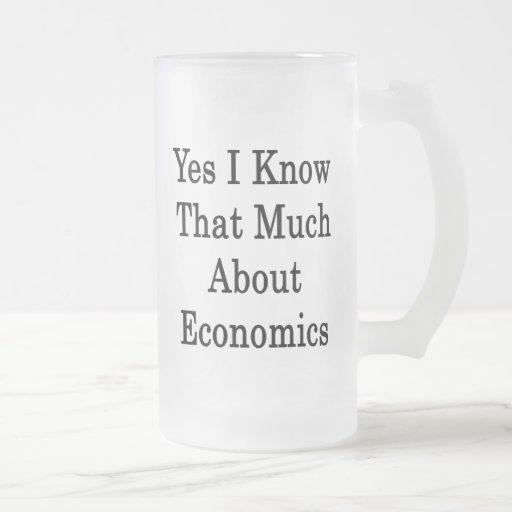 Sé sí que mucho sobre la economía taza cristal mate