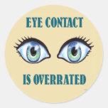 Se sobrestima el contacto visual pegatinas redondas
