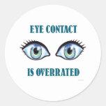 Se sobrestima el contacto visual etiquetas redondas