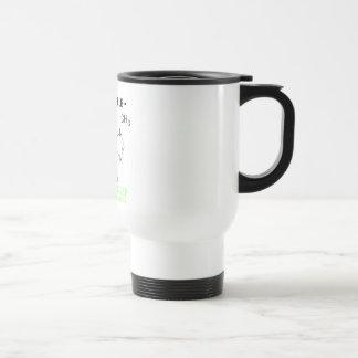 """Se sobrestima la fórmula """"sueño del cafeína """" taza de viaje de acero inoxidable"""