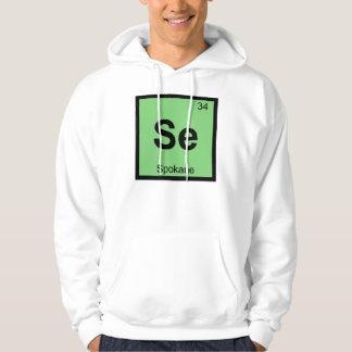 Se - Spokane Washington Chemistry Periodic Table Hoodie