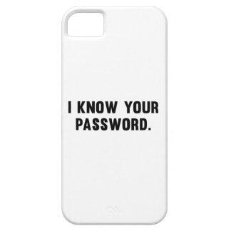 Sé su contraseña iPhone 5 Case-Mate fundas