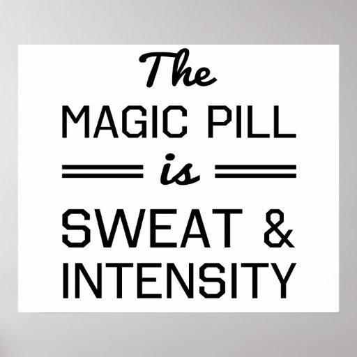 Se suda la píldora mágica e intensidad impresiones
