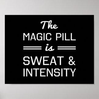 Se suda la píldora mágica e intensidad póster