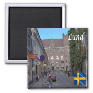 SE - Sweden - Lund 2 Inch Square Magnet