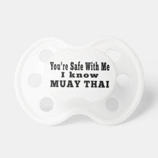 Sé tailandés de Muay Chupetes Para Bebes