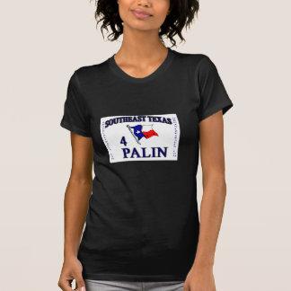 SE Texas4palin - Negro cabido de la camiseta de