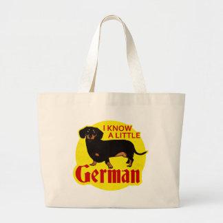 Sé un poco alemán bolsa tela grande