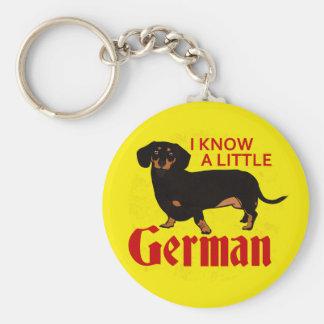 Sé un poco alemán llavero redondo tipo pin
