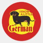 Sé un poco alemán pegatina redonda