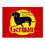 Sé un poco alemán postal