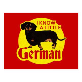 Sé un poco alemán tarjeta postal
