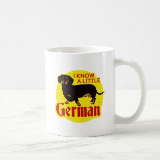 Sé un poco alemán taza de café