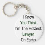 Sé usted piensa que soy el abogado más caliente en llavero personalizado