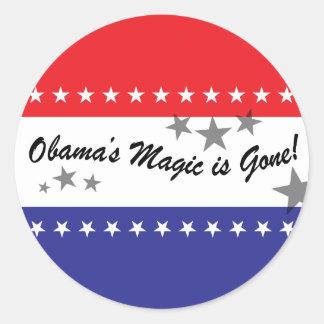 Se va la magia de Obamas Etiquetas Redondas