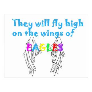 se va volando águilas tarjetas postales