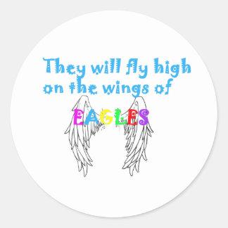 se va volando el águila etiqueta redonda