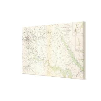 SE Virginia, Ft Monroe, approaches to Richmond Canvas Print