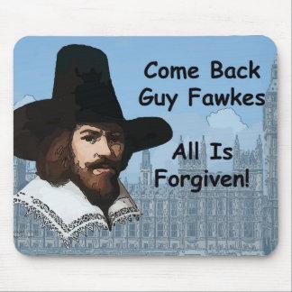 Se vuelve Guy Fawkes que perdonan todo Tapetes De Raton