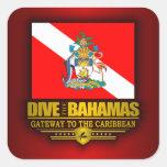Se zambullen las Bahamas 2 Colcomanias Cuadradases