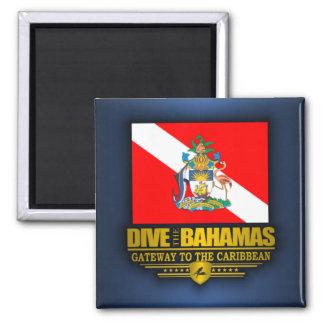 Se zambullen las Bahamas 2 Imán Cuadrado