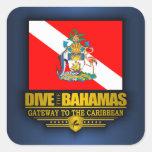 Se zambullen las Bahamas 2 Pegatina Cuadrada
