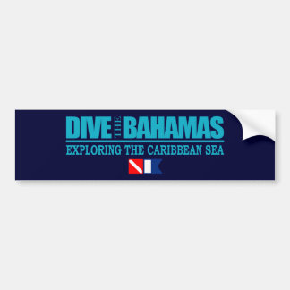 Se zambullen las Bahamas Bumpersticker Etiqueta De Parachoque