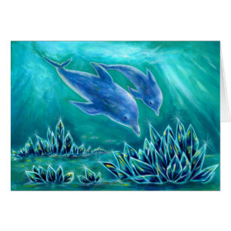 Sea 1 of crystal and dolphin card