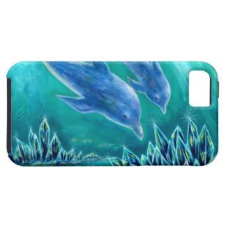 Sea 1 of crystal and dolphin iPhone SE/5/5s case