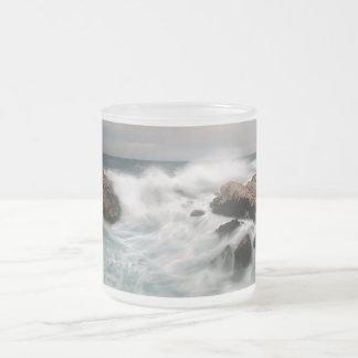 """Sea"" #2 Frosted Glass  Mug"