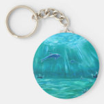 Sea 3 of crystal and dolphin keychain