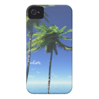 sea-471965 TROPICAL PALM TREES sea sky leaf wood b iPhone 4 Case-Mate Case