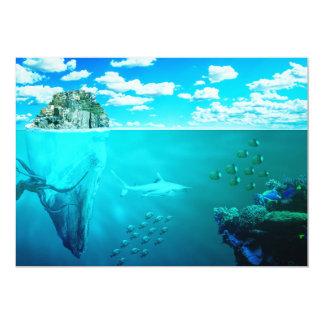 sea-673764. FANTASY SCENERY OCEAN UNDERWATER SEA C 5x7 Paper Invitation Card