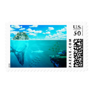 sea-673764. FANTASY SCENERY OCEAN UNDERWATER SEA C Postage
