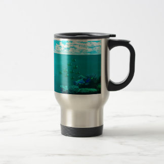 sea-673764. FANTASY SCENERY OCEAN UNDERWATER SEA C Travel Mug