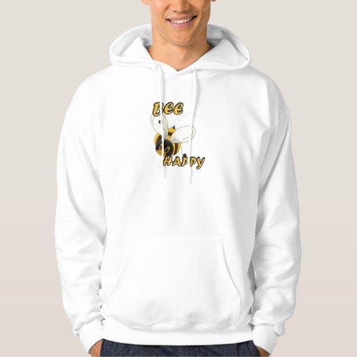 Sea abeja sonriente feliz sudadera con capucha