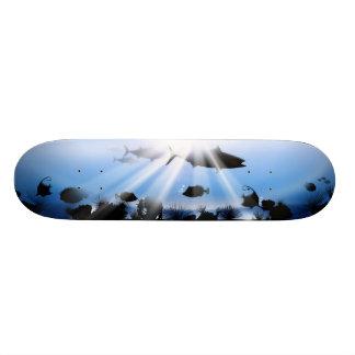 Sea abyss landscape skateboard deck