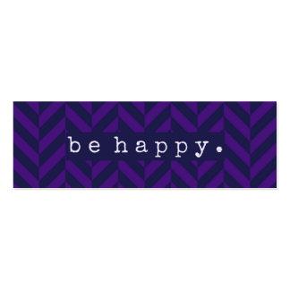 Sea actos al azar felices de la tarjeta de la tarjetas de visita mini