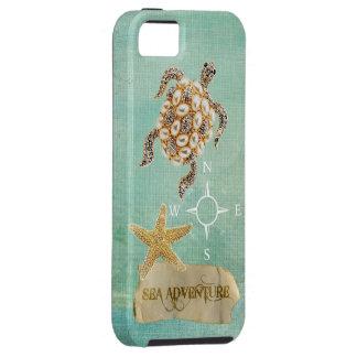 Sea Adventure Turtle Jewel Print & Starfish iPhone 5 Cover