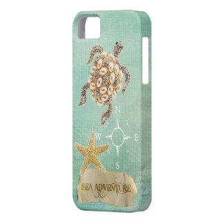 Sea Adventure Turtle Jewel Print & Starfish iPhone 5 Cases
