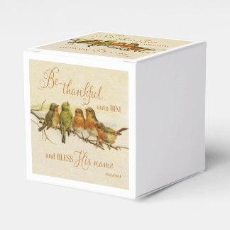 Sea agradecido a él y bendiga su nombre cajas para detalles de boda