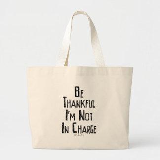 Sea agradecido bolsa tela grande