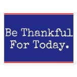Sea agradecido para la postal del hoy