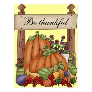 Sea agradecido tarjetas postales