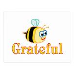 Sea agradecido tarjeta postal