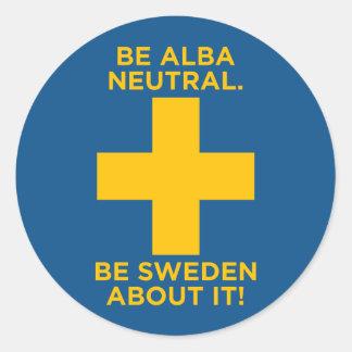 Sea Alba Neutral-Es Suecia sobre ella pegatina