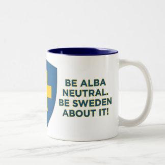 Sea Alba Neutral-Es Suecia sobre ella taza